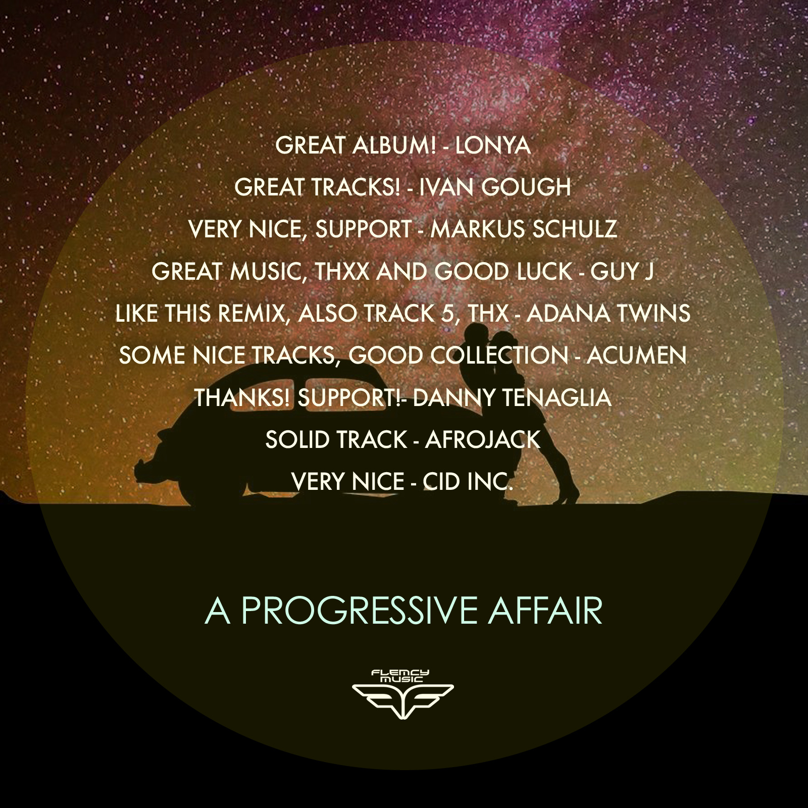 A Progressive Affair: Thanks for the support